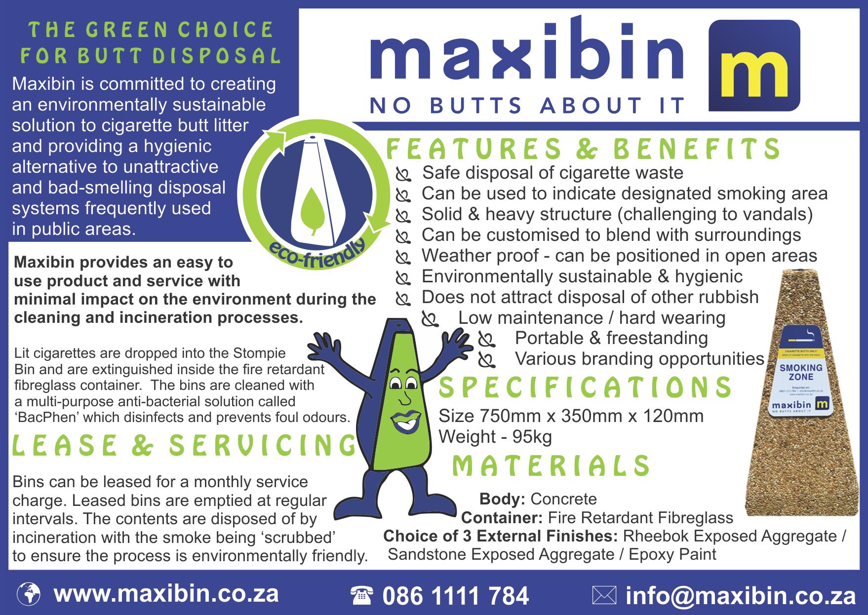 Maxibin Brochure Mascot