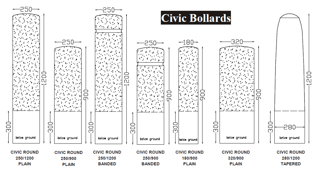 Civic Bollards
