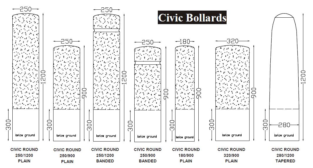 Civic Bollards
